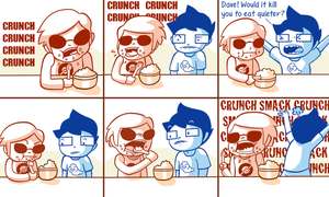 Homestuck - Cereal Time by Aviarei