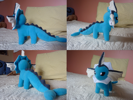 vaporeon plushie by Plush-Lore