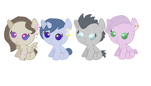 MLP Adopts #19 - #22 by GressgrinAST