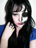 Skull Pretty Makeup Face by cherrybomb-81