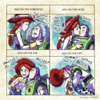 Buzz+Jessie: Kiss Meme by YoukaiYume