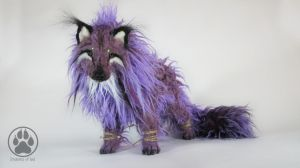 Hitodama the spirit wolf poseable artdoll! by CreaturesofNat