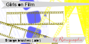 Girls on Film Brush Set by retrographic