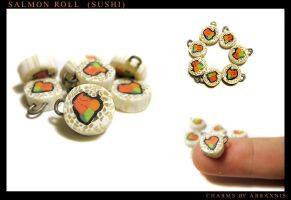 Salmon Roll Charms by Abraxnis