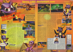 German Spyro 2 magazine article by Spyro-1995
