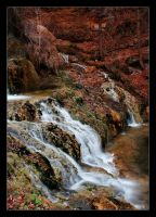 Autumn waterfall by Azraelia