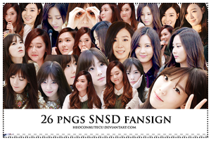 PNGs Pack SNSD Fansign by Heoconkutecu