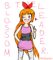 ::Cartoony Style: Blossom:: by XxStrawberryQueenxX