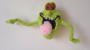 Crochet / Amigurumi Slimer from Ghostbusters by RuthNorbury