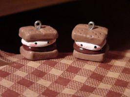 Polymer Clay Smores by SquishayyTofu