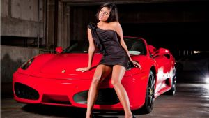 Ferrari-and-hot-babe by bradyrichie