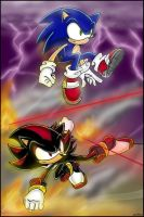 First Strike: Sonic and Shadow by combatmaster
