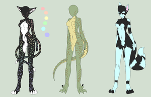 Anthro Adoptable Batch 2 - OPEN by ShadowInkAdopts