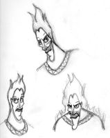 Hades face sketches by DKCissner