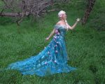 Queen Elsa Frozen Fever Cosplay (Spring Dress) by glimmerwood