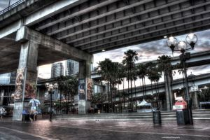 Darling Harbour Sunrise - Under the overpass by Lori-P-Photography