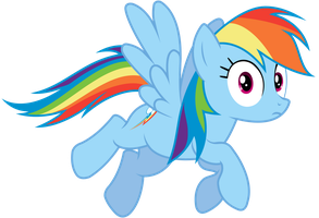 Rainbow Dash Looking At Us or You by TomFraggle