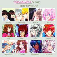 2012 Art Summary  by chisachan2010