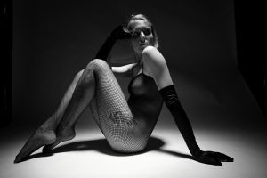 Black Fishnet dress by grandart