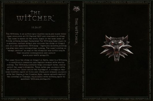 The Witcher Custom Cover Art by Obscuriel