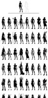Female Superhero Silhouettes by feeesh