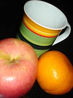 Mug, orange, apple..XP by ke0ugh-sama