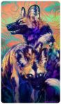 Tarot : THREE OF COINS by leptailurus-serval