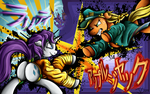 Fanart - MLP. Jotaru Jack VS DIOrity by jamescorck