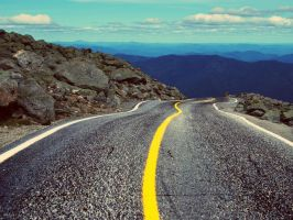 Asphalt Road and Counter Mountains by SottoPK