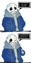 You Encountered a Flirting Sans! by The-NoiseMaker
