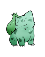 rawrr goes the bulbasaur. by Eulala