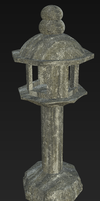 Japanese Stone Lantern (Dirty) by KhorelisSylvari