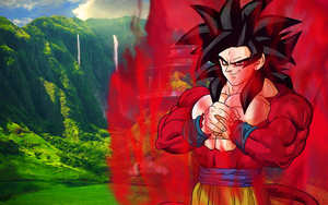 Son Goku SSJ4 Widescreen by psy5510