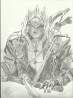 Assassins Creed Connor Drawing by Mattheau