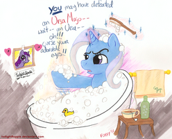 Trixie Tub Drama by TwilightFlopple