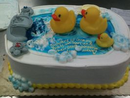 Ducky Baby shower cake... by TheForest