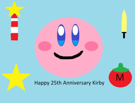 Kirby 25th Anniversary by cecilartman