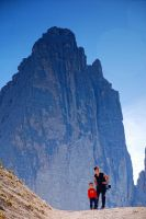 My Wife, my Son and the three peaks of Lavaredo by mutrus