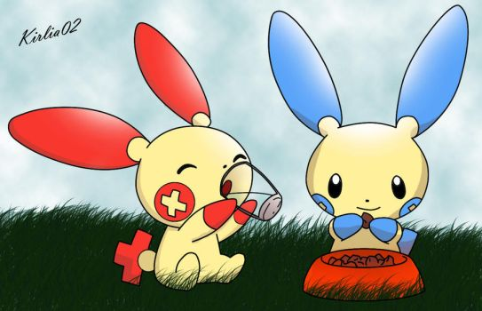 ... Plusle and Minun by Ry-HD