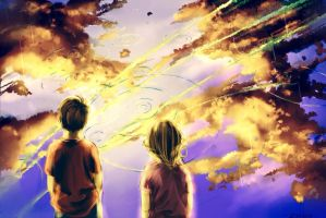 Golden was the day. by ZAKUGA
