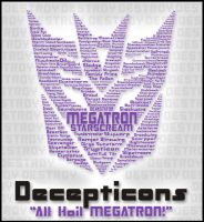 Typography - ALL Hail Megatron by Frenzi99