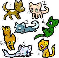 Open New kitty Adopts! by shayde21