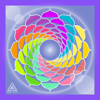 Mandala Colores Fresh - INKSCAPE by DG-RA