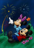 DC - Mickey and Minnie (color) by vanillacoke-disney