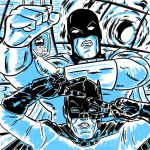 Batman 66 meets Space Ghost by AndyMichaelArt