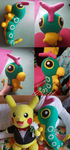 Caterpie Plush by Crystal-Dream