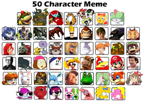 My 50 Character Meme Example by KoopaKidDS