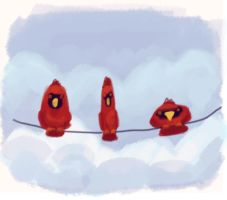 Cardinals by Atlantistel