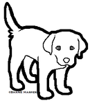 Free Labrador Puppy Template by drunkdrawings