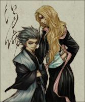 Hitsugaya and Matsumoto Grey by Darksouls13